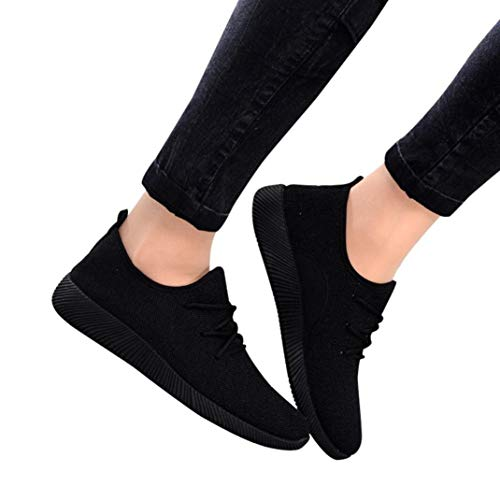 Gyoume Women Sports Shoes Ankle Boots Slip On Shoes Sports Shoes Candy Color Student Net ()