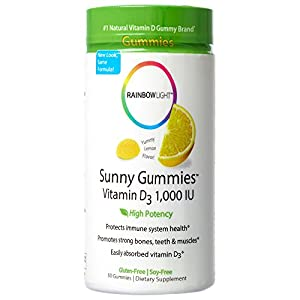 Rainbow Light Sunny Gummies Vitamin D3 1,000 IU