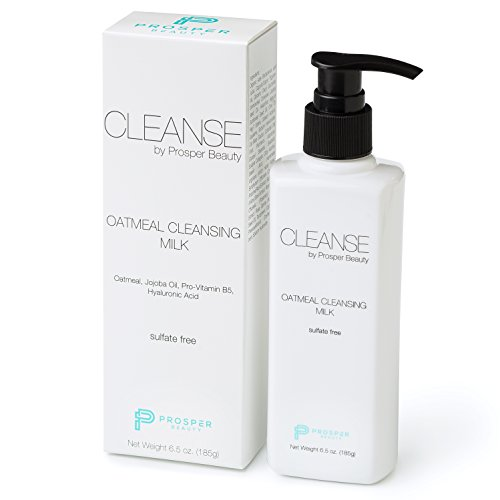 Face Cleanser Wash Daily Gentle /CLEANSE by Prosper Beauty/Oatmeal Cleansing Milk Facial Wash Daily Gentle Hyaluronic Acid All Skin Types