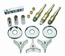 DANCO Bathtub and Shower 3-Handle Remodel/Rebuild Trim Kit for American Standard Colony Faucets   Cross-Arm Handle   9C-23H, 9C-23C, 11C-1D   Chrome (39614)