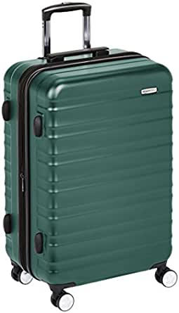AmazonBasics Premium Hardside Trolley Luggage with Built-In TSA Lock - 28-Inch, Green