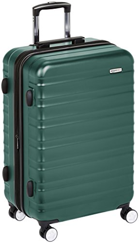 AmazonBasics Premium Hardside Spinner Luggage with Built-In TSA Lock - 30-Inch, Green