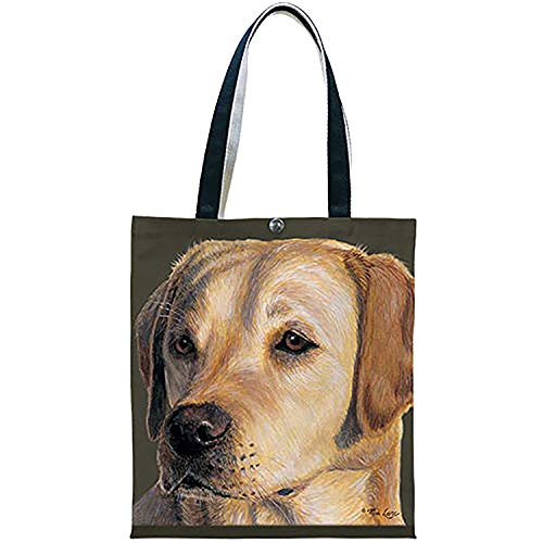 Fiddlers Elbow t907 Yellow Lab Canvas Shopping Tote