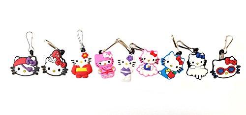 [AVIRGO 9 pcs Zipper Pull / Zip pull Charms for Jacket Backpack Bag Pendant Set # 60-2] (Badtz Maru Costume)