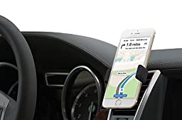 Kenu Airframe+ | Vent Mount Car Mount, Cell Phone Holder, Car Cradle, Car Accessories Compatible for iPhone 7 Plus, 7, 6s Plus, 6 Plus, 6s, 6, 5s, 5, SE Samsung and Android phones | Black Leather