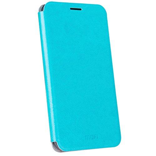 ZTE Nubia Z11 Mini S Funda - Funda Carcasa Flake Interna Acero Cuero Tapa Case Cover para ZTE Nubia Z11 Mini S - Negro Cielo azul