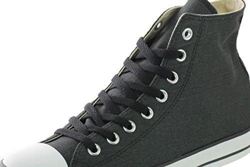 Converse Unisex Chuck Taylor Hi Black/black/charcoal Basketball Shoe (8.5 B(M) US Women / 6.5 D(M) US Men)