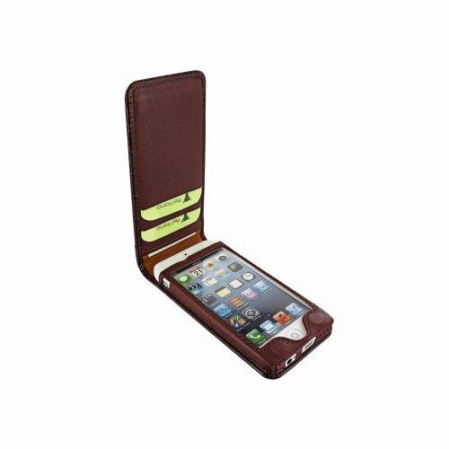 Piel Frama U637COM Classic Krokodil Optik Magnetic Ledertasche für Apple iPhone 5C braun