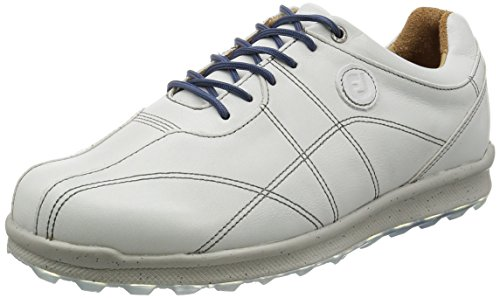 FootJoy Men's Versaluxe Off-White Athletic Shoe (Best Price Footjoy Dryjoy Golf Shoes)
