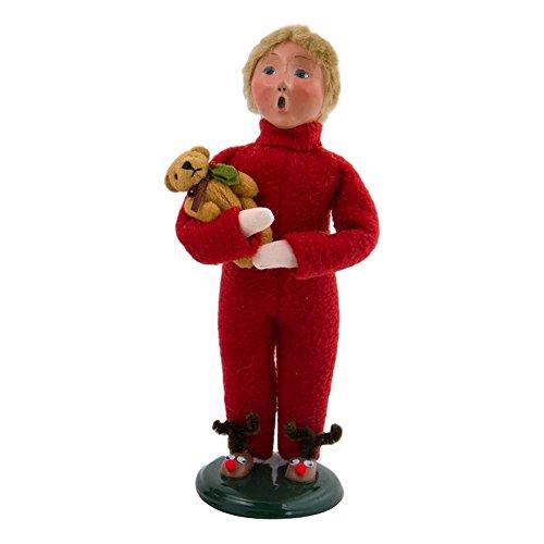Byers' Choice Boy with Teddy Bear #4823