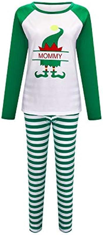 Sucastle świąteczne piżamy rodzinne pasujące zestawy, odzież bożonarodzeniowa, miękka bawełna, bielizna nocna: Odzież