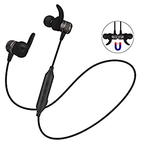 Bluetooth Sport Headphones, BOROFONE Wireless Noise Cancelling Headsets/Headphone/Earbuds/Earphone Newest Bluetooth V4.2 Chip with Magnet Attraction Design In Order To Running and Exercise (Dark Gray)