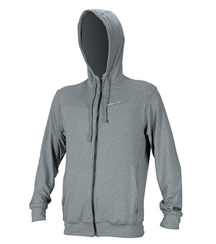 - O'Neill Men's Hybrid UPF 50+ Long Sleeve Full Zip Sun Hoodie, Grey, Large