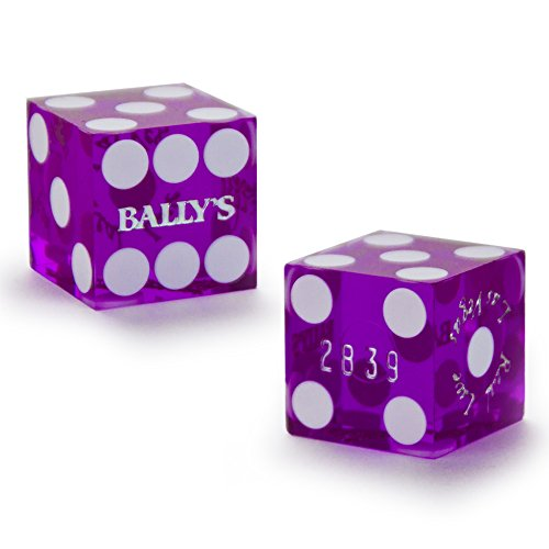 Pair (2) of Official 19mm Casino Dice Used at Bally's Casino by (Real Casino Dice)