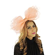 Gorgeous Ladies Ascot Kentucky Derby Wedding Fascinator Hat Peach