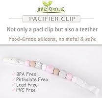Amazon.com: Clip para chupete, 2 en 1, sin BPA, cuentas de ...