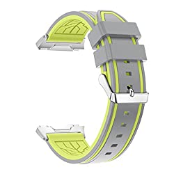 Lisin Sports Soft Silicone Replacement WirstBand Sports Band For Fitbit Ionic Watch, Soft and Comfortable (Gray)