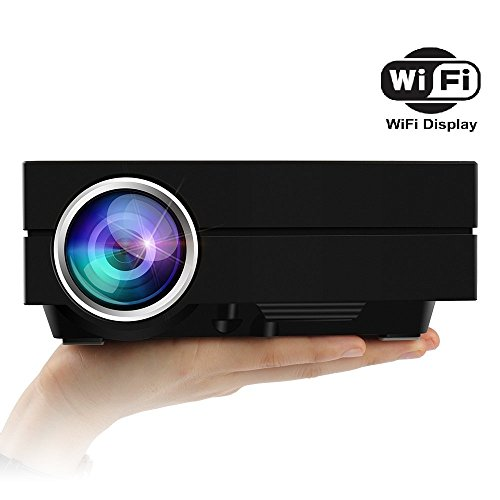 Ezapor Wireless Display Mini Projector GM60A WIFI 130 Inch Screen 800x480 1000 Lumen Enjoy Video Movie Game by...