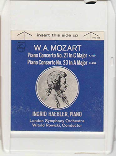 (London Symphony Orchestra/Ingrid Haebler: W.A. Mozart Piano Concerto No. 21 in C Major K. 467 / No. 23 in A Major K. 488 8 Track Tape)