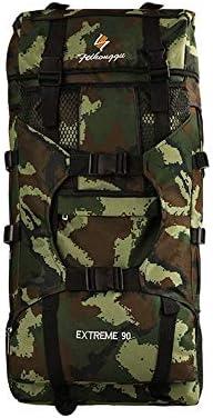 サイクリングバックパック 防水ハイキングデイパックバックパック内部フレーム50Lバックパックパッド入りバックサポート&クッション調整ストラップ (Color : Camouflage 1, Size : 76*38*21cm)