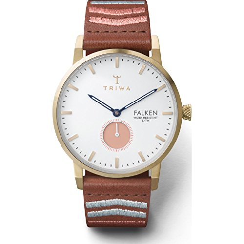 Triwa Coral Falken Watch | Brown Embroidered Classic