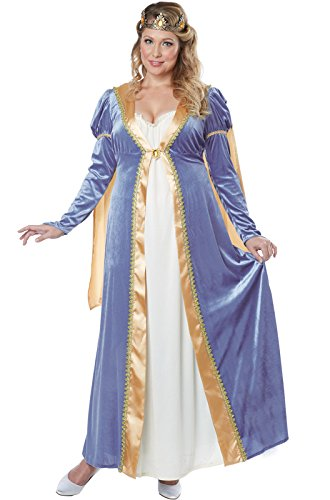 California Costumes Women's Plus Size Elegant Renaissance Lady Costume, Blue, XXX-Large -