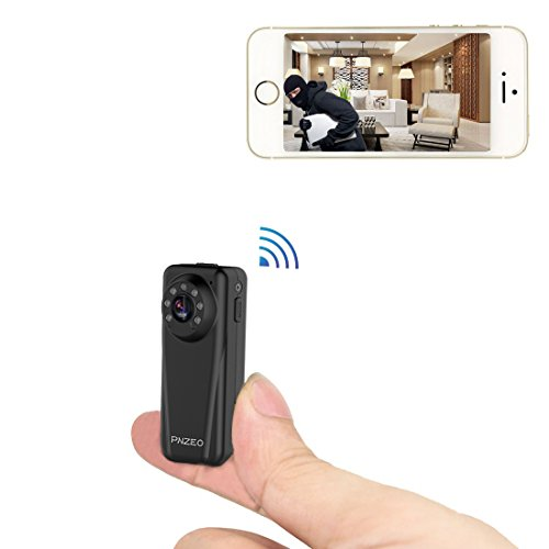 PNZEO F3 Mini Camera 1080P HD Wide-View-Angle Video Recorder Wireless WiFi Camera IR Night-Vision Camera Tiny Security Camera Remote View Motion-Detection