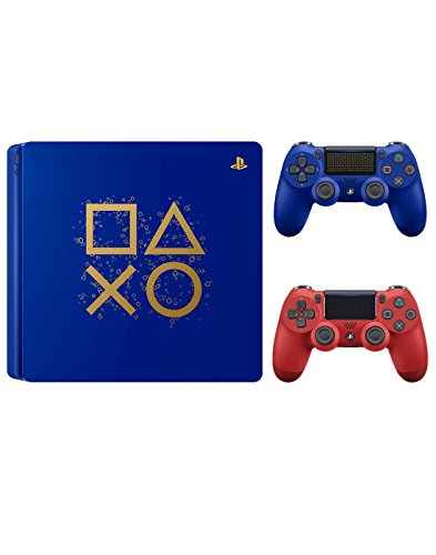 PlayStation 4 Days of Play Limited Edition 1TB Console with Extra Magma Red Dualshock 4 Wireless Controller Bundle