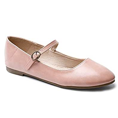 Trary Mary Jane Flats Shoes for Women Pink 05