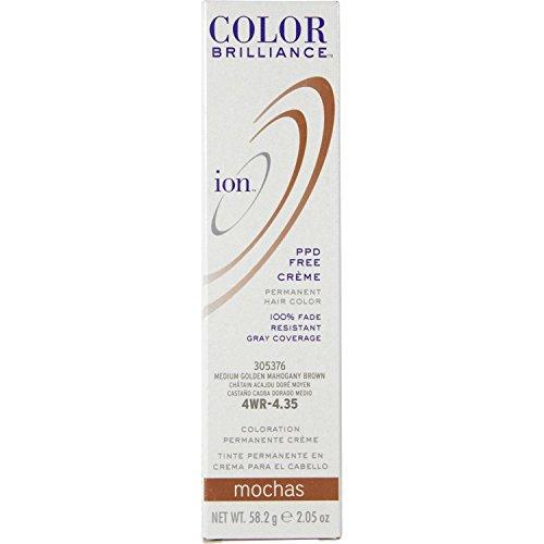 Ion 4WR Medium Gold Mahogany Brown Permanent Creme Hair Color 4WR Medium Gold Mahogany Brown