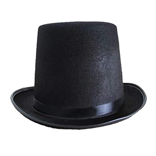 Uqingbao Top hat Jazz hat Halloween Manufacturers Props 78g (Large) high 16CM for Magic Cosplay -