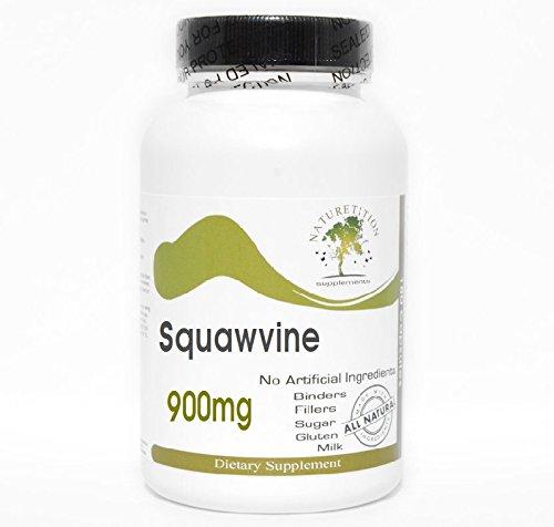 (Squawvine 900mg - Partridge Berry ~ 200 Capsules - No Additives ~ Naturetition Supplements)
