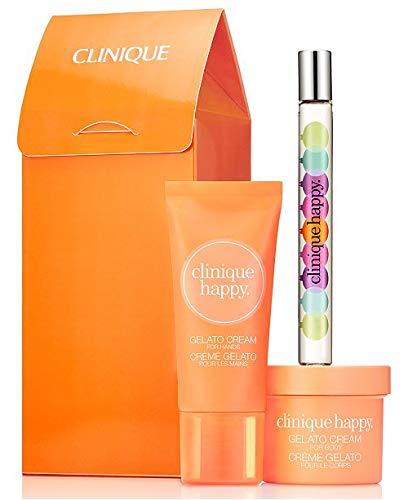 Clinique Happy Treats Perfume Spray Body & Hand Lotion Set/Kit Clinique Happy Body Cream