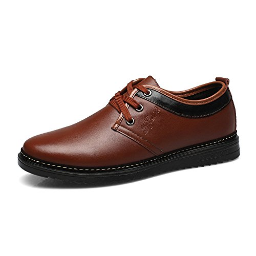 Chaussures en Cuir pour Hommes Formelles Business Shoes Matte Cuir PU Upper Lace Up Oxford Doublés Respirant (Chaud en Option),pour Hommes Warm Brown
