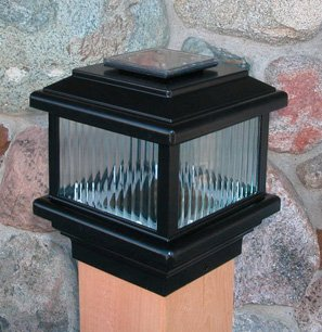 "Polaris Solar Deck Light (5 1/2"") Black"