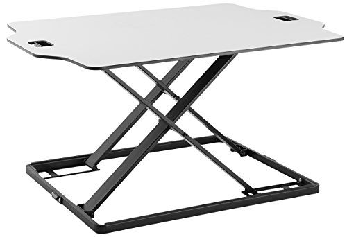 Sorbus Standing Desk Height Adjustable Sit to Stand Tabletop Workstation Dual Monitor Desk for Home or Office (Adjustable Standing Table, White)