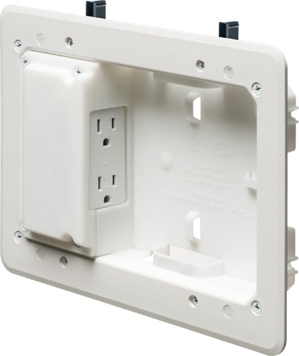 Arlington TVL508-1 Low Profile TV Box for Shallow Walls, 8-inch x 5-inch Box, 1/2-inch or 5/8-Inch Drywall, - Bezel Box