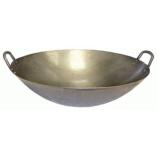 Ceramic Grill Store 16  Carbon Steel Wok   Large Xl For Ceramic Grills  16 Large