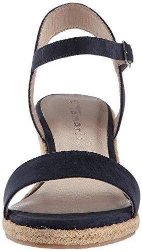 Tamaris 28300, Sandalia con Pulsera Para Mujer Azul (Navy)