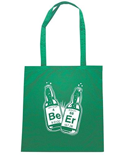 T-Shirtshock - Bolsa para la compra FUN0742 Beer Science T SHIRT detail Verde