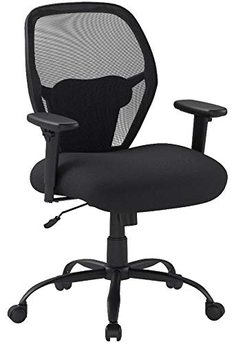 AmazonBasics Big & Tall Swivel Office Chair - Mesh with Lumbar Support, 450-Pound Capacity - Black