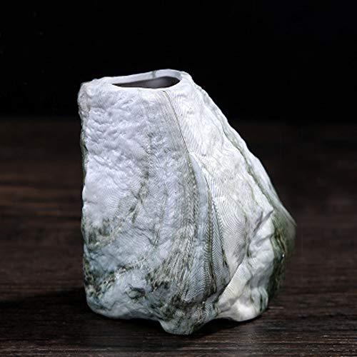 Better-way Ceramic Succulent Pot Decorative Vase, Marble Glazed, Orchid Flower Planter Cactus Container, Vase Centerpiece Vintage Home Decor (3 Inch, Forest Green) ()