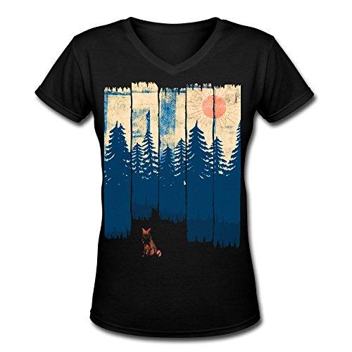 t-shirt-fox-painting-womans-v-necka-tee-shirts
