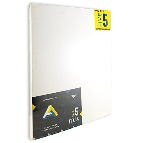 14 Count Canvas (Art Alternatives Canvas Panel Super Value 11x14 Pack of 5)