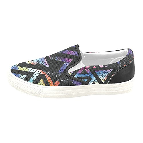 D-Story Custom Sneaker Galaxy Seamless Pattern With Triangles Women Unusual Slip-on Canvas Shoes O233lxSR9