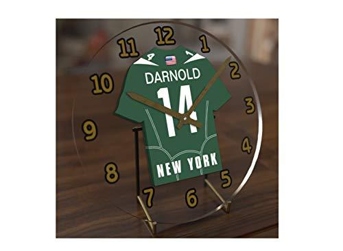 New York Jets Desk Clock - FanPlastic SAM DARNOLD 14 New York Jets Desktop Clock - National Football League Legends Edition !!