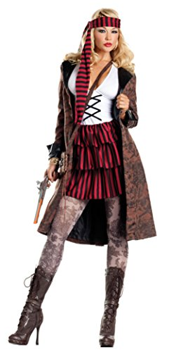 [Be Wicked Womens Sexy Seductive Provocative Pirate Theme Party Fancy Costume, XL (14-16)] (Plus Size Sexy Pirate Costumes)
