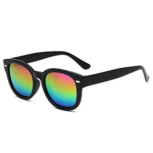 Sapo sol de color deslumbrante gafas hombre Aoligei señora E gafas Retro sol película gafas Fqw7AS
