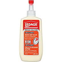 LePage Express Quick Dry Wood Glue, Easy Flow Bottle, 150ml (1536418)