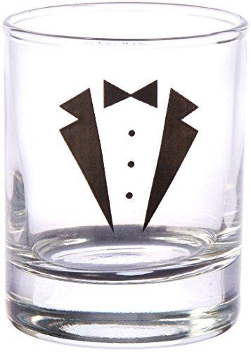 (Kate Aspen GS Tuxedo Shot Glass (Set of 4), Clear)